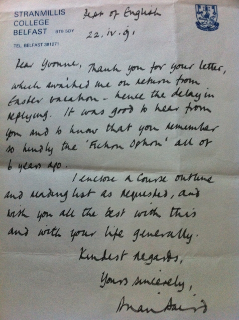 Letter from Brian Baird