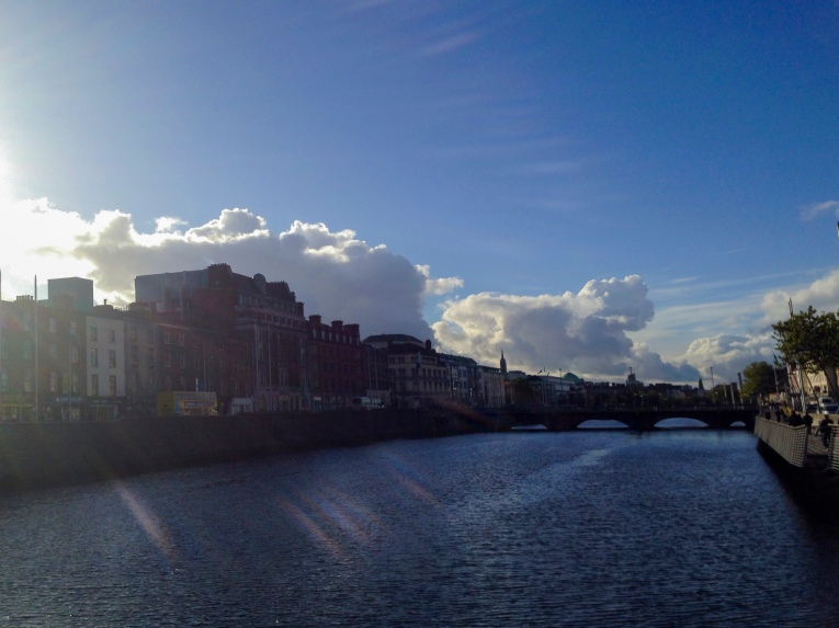 Blue morning over the LIffey